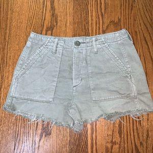 AEO Raw Hem Cutoff Chino Shorts
